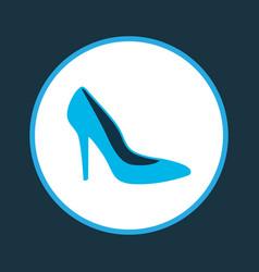 heel shoe icon colored symbol premium quality vector image