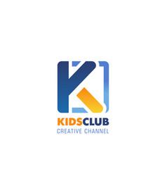 Kids club emblem vector