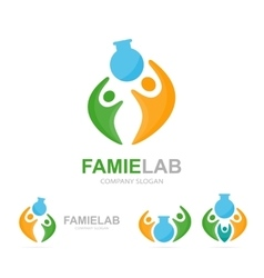 Lab and people logo combination Bottle and vector