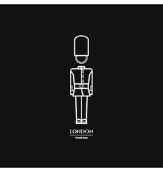 London Guard Icon 1 vector image