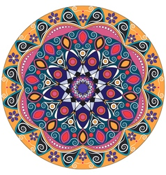 Mandala decoration isolated design element vector image