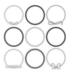 marine rope round frames set vector image