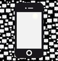 mobile black background vector image