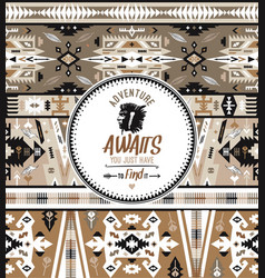 native aztec seamless pattern embroidery vector image