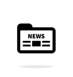News folder archive icon on white background vector