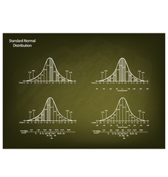 Normal Distribution Diagram on Chalkboard vector image