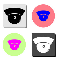 observation camera flat icon vector image