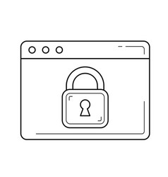 online security line icon vector image