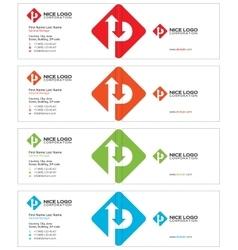 Parking business card light vector