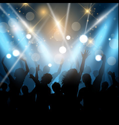 Party people on a spotlights background vector