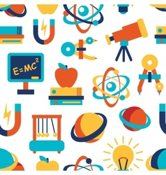 Physics seamless background vector image
