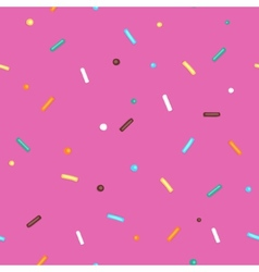 Pink Background Donut vector