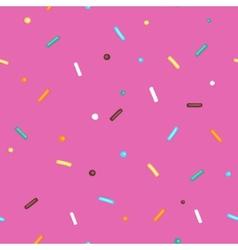 Pink Background Donut vector image
