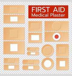 Realistic medical plasters set vector