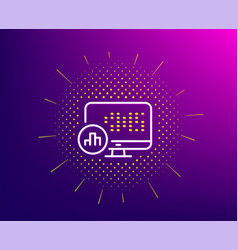 Report statistics line icon column graph sign vector