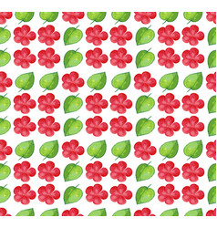 seamless background design with red flowers vector image