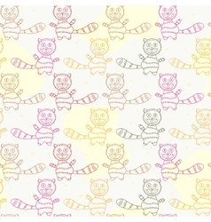 Seamless Pattern with Cat Silholuettes vector image