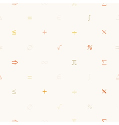 Seamless pattern with mathematical symbols vector image