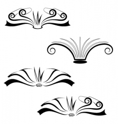 Set of books vector