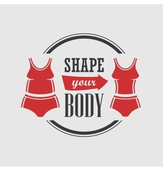 Shape your body vector