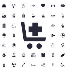 Shopping cart with cross icon vector