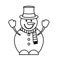 snowman character isolated icon vector image