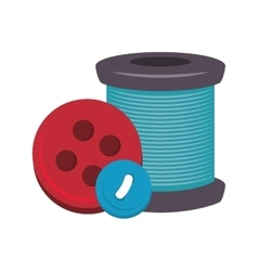 Spool of thread and buttons vector