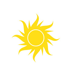 sun icon on white background for graphic and web vector image