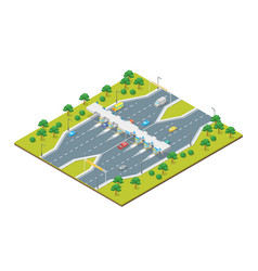 toll road payment concept 3d isometric view vector image