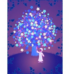 Tree of dreams vector