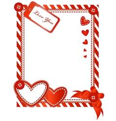 valentine vertical card vector image