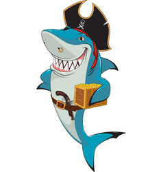 White shark pirate vector