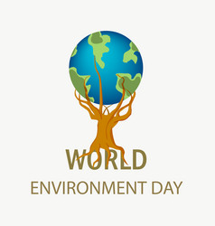 world environment day concept for save the trees vector image