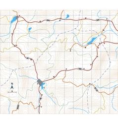 contour roadmap vector image vector image