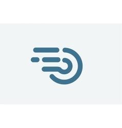 Fast line circle logo vector