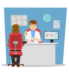 On Reception At Doctor Design vector image vector image