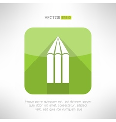 Pencil icon made in modern flat design Creativity vector image vector image