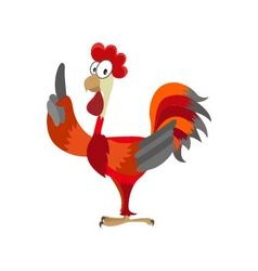 rooster on white background vector image vector image