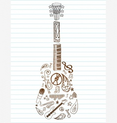 shapely guitar vector image
