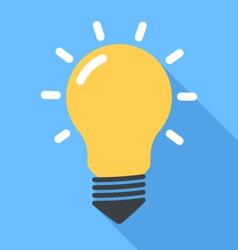 Lightbulb flat vector image vector image