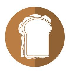 sandwich tasty food shadow vector image vector image