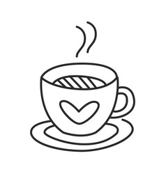 Tea or coffee cup doodle hand drawn line vector