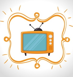Television entertainment graphic vector image