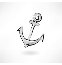 anchor grunge icon vector image vector image
