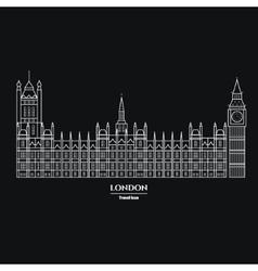 Big Ben and Parliament Icon 1 vector image