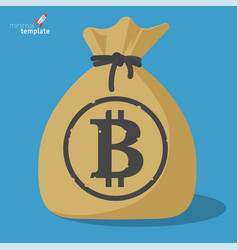 blockchain bitcoin savings vector image vector image