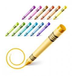drawing crayons vector image vector image