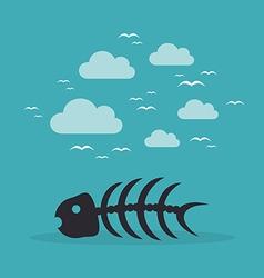 Fish bone3 vector image vector image
