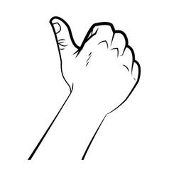 hand male like thumb up signal ok vector image