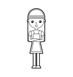 housewife avatar character icon vector image